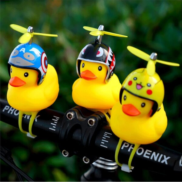 Bicycle Light Bike Horn Bell Duck Front Lights Tail Handlebar Head Lamp Cute Flash Kids Child 3