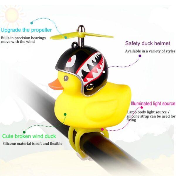 Bicycle Light Bike Horn Bell Duck Front Lights Tail Handlebar Head Lamp Cute Flash Kids Child