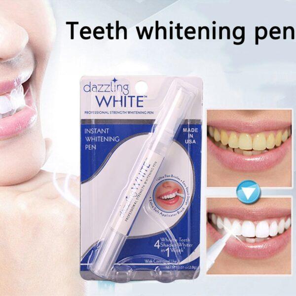 دانت سفید کرنے والے قلم کی صفائی کرنے والے سیرم کو پلاک پر داغ لگاتے ہیں دانتوں کے اوزار سفید ہوجاتے ہیں
