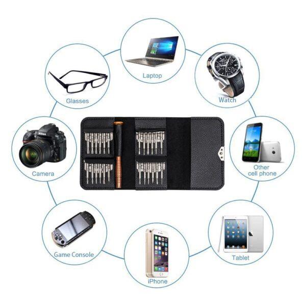 Leather Case 25 In 1 Torx Screwdriver Set Mobile Phone Repair Tool Kit Multitool Hand Tools 4