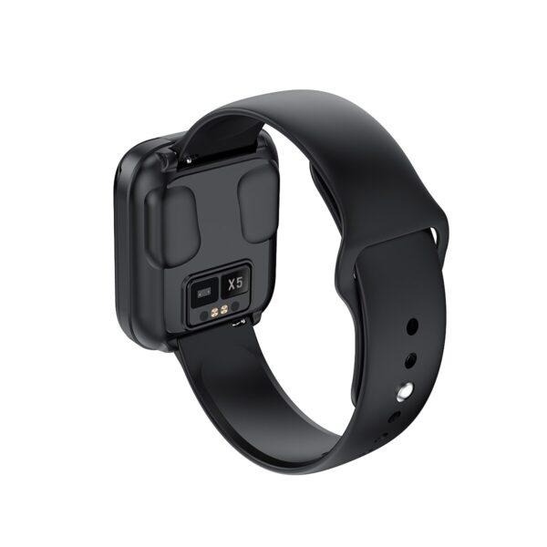 X5 smart watch TWS Bluetooth headset 2 in 1 HIFI music watch heart rate blood pressure 1