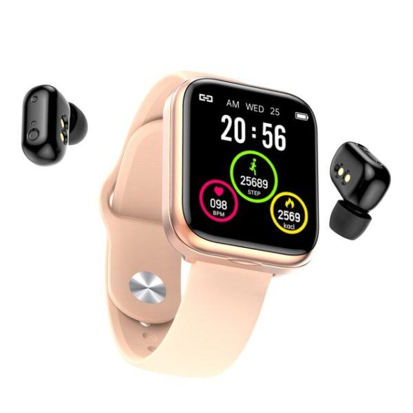X5 smart watch TWS Bluetooth headset 2 in 1 HIFI music watch heart rate blood pressure 1.jpg 640x640 1