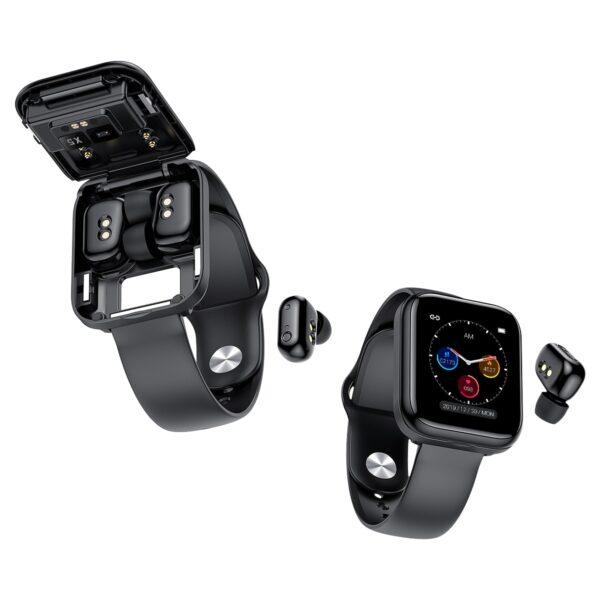 X5 smart watch TWS Bluetooth headset 2 in 1 HIFI music watch heart rate blood pressure