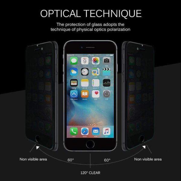 4D Privasi Pelindung Layar Pikeun iPhone 12 11 Pro Max XS MAX XR Anti nenjo Peep 1
