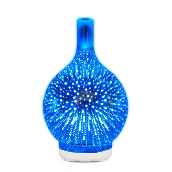 3D -феерверк, шкляны ўвільгатняльнік паветра з 7 -м колерам, святлодыедным дыфузарам эфірнага алею з начным святлом 1