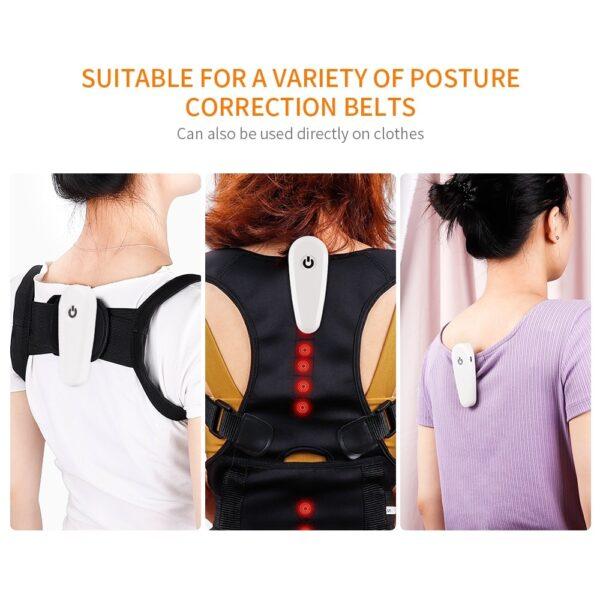 Adjustable posture Corrector Smart Vibration Chiyeuchidzo Yekudzidzisa Kurwadziwa Ruregereso kumashure Brace Mapfudzi Tsigiro YeVarume uye 3