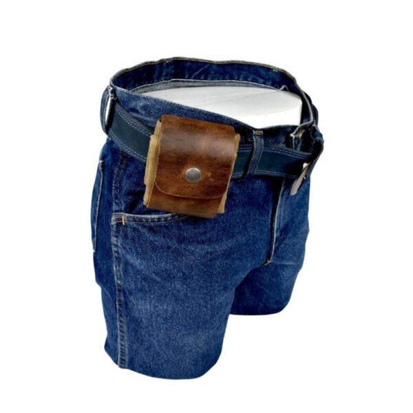 Скураная і палатняная сумка для сумкі Палатняная сумка для здабывання скарбаў Ракавіны Лёгкая пятля з рамянямі 3