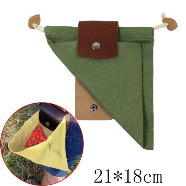 Скураная і палатняная сумка для сумкі Палатняная сумка для кармоў для паходаў са скарбамі, ракавіны, лёгкая пятля з рамянямі