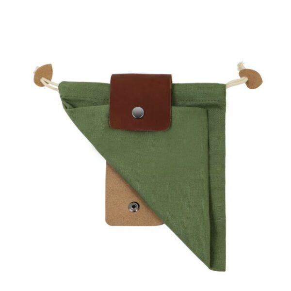 Скураная і палатняная сумка для сумкі Палатняная сумка для здабывання скарбаў, ракавіны
