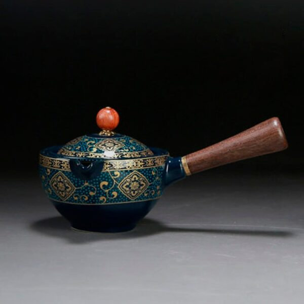 Palesa e Ikemetseng e Phethahetseng Chaena Gongfu Kung Fu Tea Set Ceramic Teapot W Wooden Handle Side handle 2.jpg 640x640 2