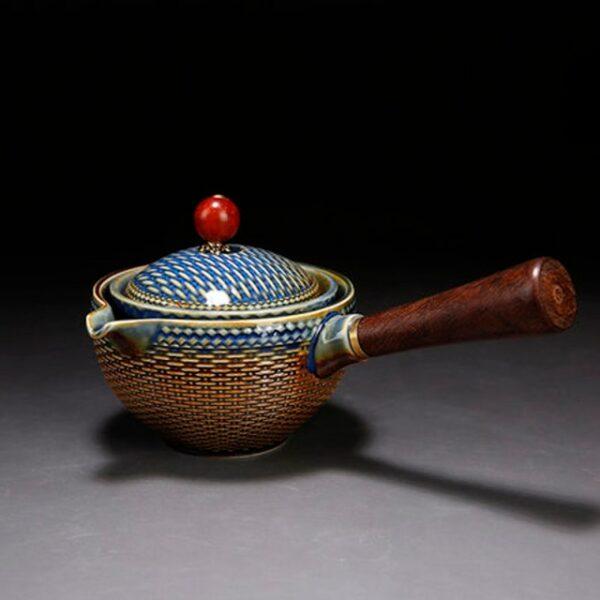 Palesa e Ikemetseng e Phethahetseng Chaena Gongfu Kung Fu Tea Set Ceramic Teapot W Wooden Handle Side handle 4.jpg 640x640 4