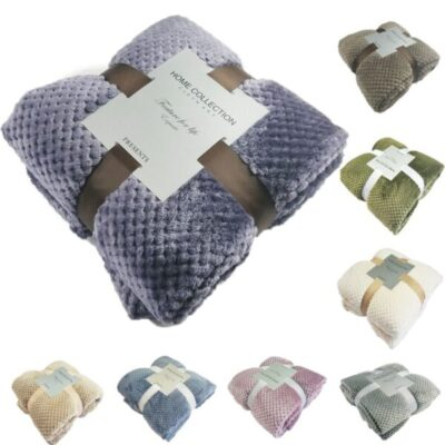 Super Soft Blanket Flannel Aircraft Sofa Use Office Children Blanket Towel Travel Fleece Mesh Portable Car 600x600 1