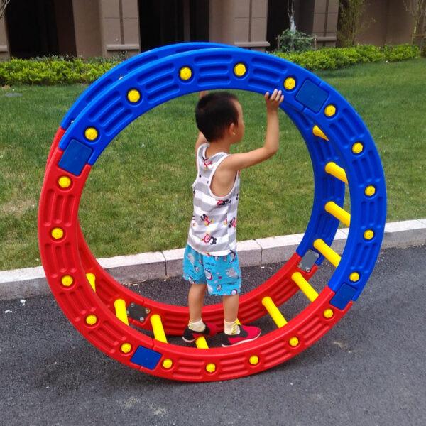 TT Kindergarten Niños s Aptitud física Equipo de entrenamiento sensorial Cuarto de ronda Padres e hijos Jardín Madera Surf 1