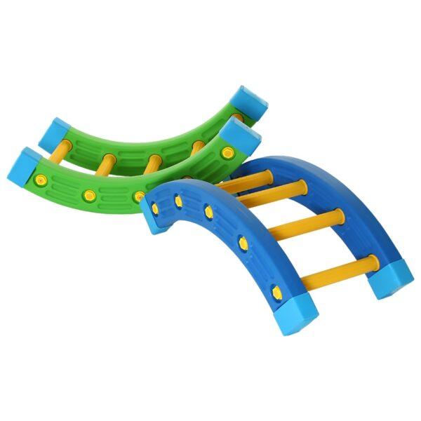 TT Kindergarten Niños s Aptitud física Equipo de entrenamiento sensorial Cuarto de ronda Padres e hijos Jardín Madera Surf 3