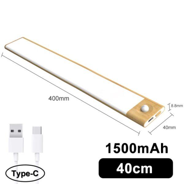 Favágó Ultra vékony LED mozgásérzékelő a szekrény fényei alatt C típusú USB töltő éjszakai lámpa 1.jpg 640x640 1