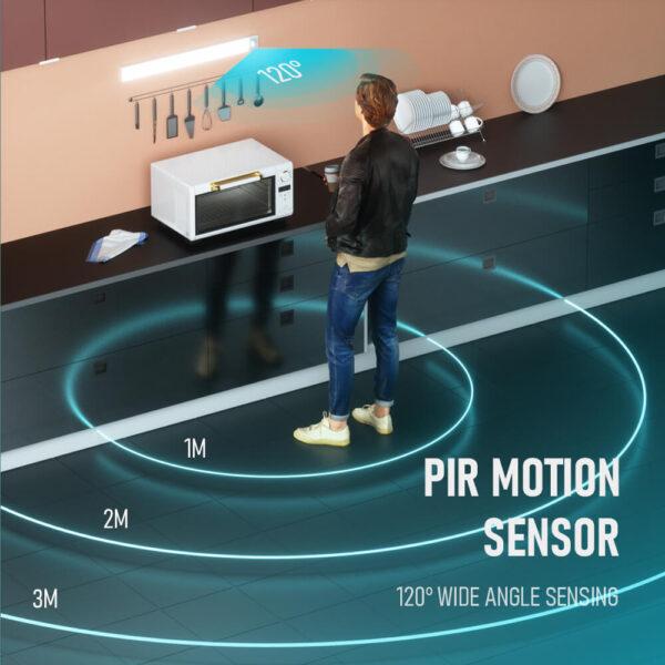 Fa szemű ultra vékony LED mozgásérzékelő a szekrény fényei alatt C típusú USB töltő éjszakai lámpa 2