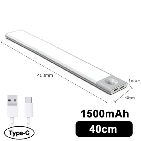 Favágó Ultra vékony LED mozgásérzékelő a szekrény fényei alatt C típusú USB töltő éjszakai lámpa 3.jpg 640x640 3