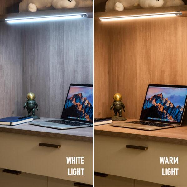 Fa szemű ultra vékony LED mozgásérzékelő a szekrény fényei alatt C típusú USB töltő éjszakai lámpa 4