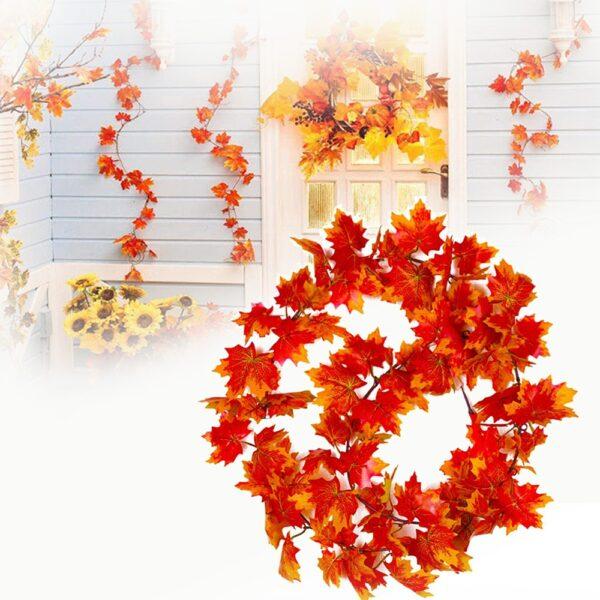2021 Yakagadzirwa Yekudonha Maple Mashizha Akaipisisa Autumn Shizha reKutenda Kuroora Party Yezviitiko Indoor Kunze Kunze Wreath.