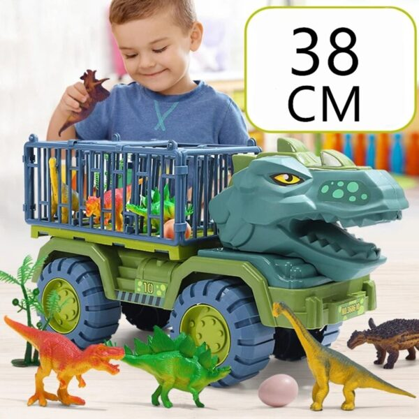 Dinosaur Vehicle Car Toy Dinosaurs Transport Car Carriers Treuk Toy Inertia Vehicle Toy With Dinosaur Gift 1