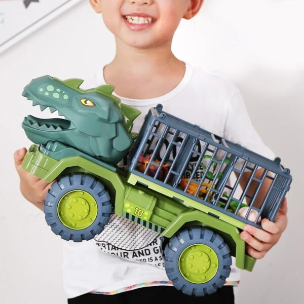 Toy Dinosaur Vehicle Car Toy Dinosaurs Transport Car Carriers Treuk Toy Inertia Vehicle Toy With Dinosaur Gift