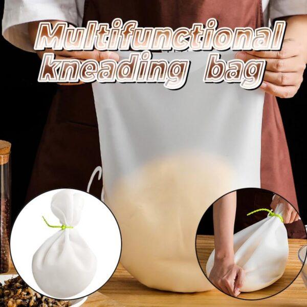 Élelmiszeripari szilikon gyúró tészta táska lisztkeverő szilikon táskák megőrzése Konyhai sütőeszköz Konyhai eszköz 3