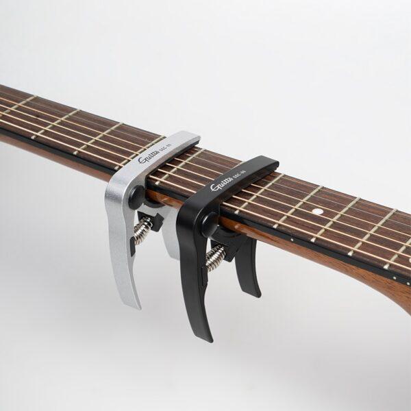GGC 06 Metal Guitar Capo Transpose Clips Boses Acoustic Guitar Capo Tuning Clamp Key Silver Black 4