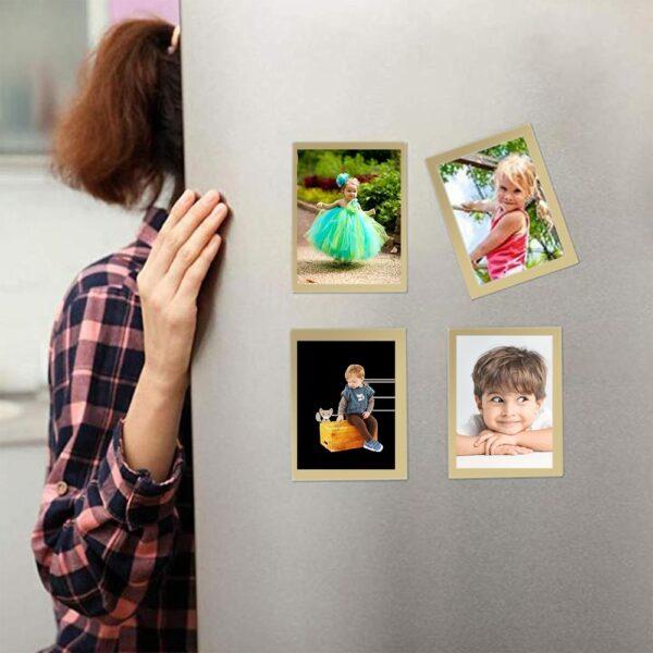 Mga Mag-frame ng Larawan Frame Pandekorasyon Pag-drop ng Patunay Magnetic Refrigerator Photoframe Para sa Pag-print ng Larawan sa Poster Hanger DIY Home 1