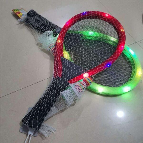 Outdoor Toys Flash Badminton Tennis Racket Set with Flash badminton Kids Outdoor Game Parent child interactive 1
