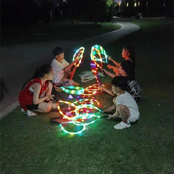 Outdoor Toys Flash Badminton Tennis Racket Set with Flash badminton Kids Outdoor Game Parent child interactive 2