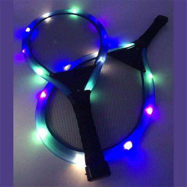 Outdoor Toys Flash Badminton Tennis Racket Set with Flash badminton Kids Outdoor Game Parent child interactive 3