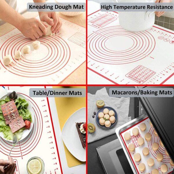 मापन रसोई के साथ सिलिकॉन पेस्ट्री मैट नॉन स्टिक बेकिंग सानना आटा चटाई पेस्ट्री कलाकंद रोलिंग पैड 1