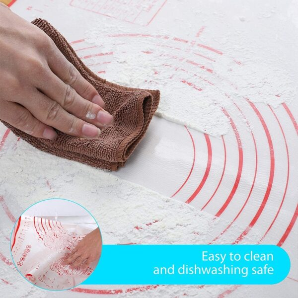 मापन रसोई के साथ सिलिकॉन पेस्ट्री मैट नॉन स्टिक बेकिंग सानना आटा चटाई पेस्ट्री कलाकंद रोलिंग पैड 3