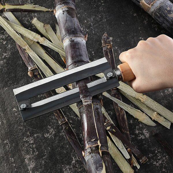 Sugarcane Peeling Kinfe Pineapple Peeler Carbon Steel Sugar Cane Peeling Cutter na may Wooden Handle 2