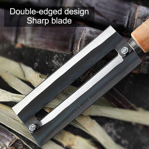 Sugarcane Peeling Kinfe Pineapple Peeler Carbon Steel Sugar Cane Peeling Cutter na may Wooden Handle 4